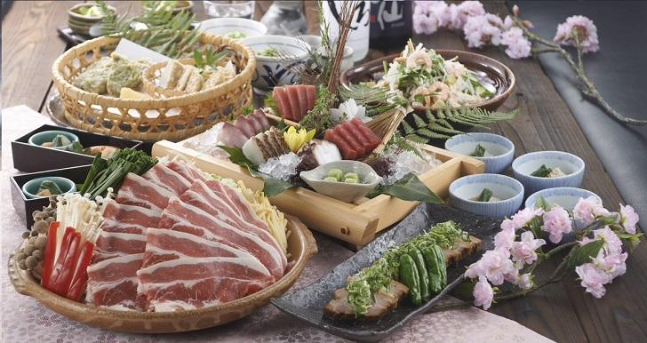 春野菜と牛肉の<br>甘辛陶板焼き