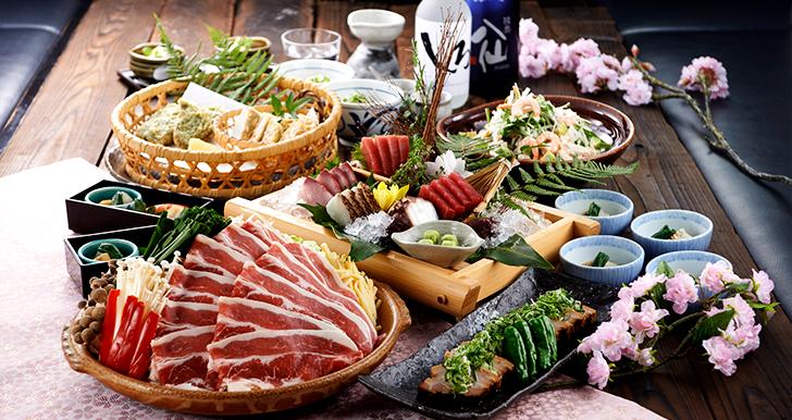 秋野菜と蒸し豚味噌陶板
