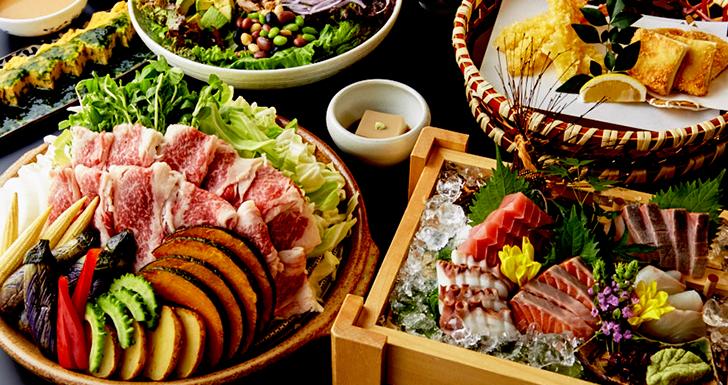 秋野菜と牛肉の<br>蒸し陶板