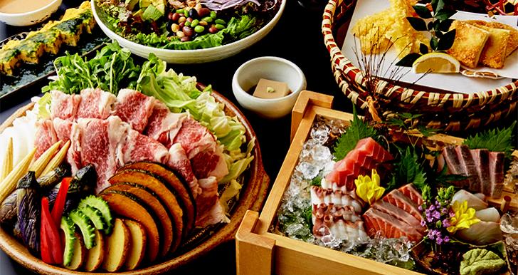 夏野菜と牛肉の<br>蒸し陶板