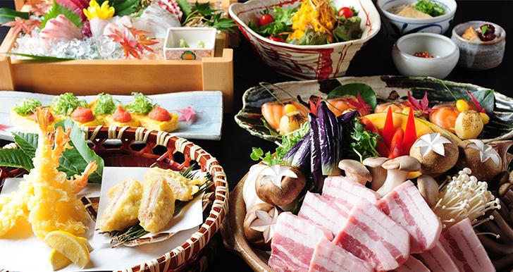秋野菜と豚肉の<br>味噌陶板