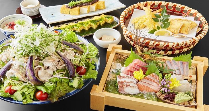 北海道産ホエイ豚と<br>夏野菜の冷しゃぶ